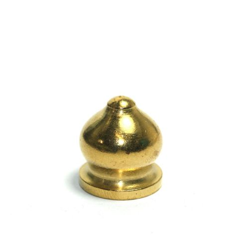 Solid Brass Fancy Finial M10 x 1mm Pitch x 20mm Tall